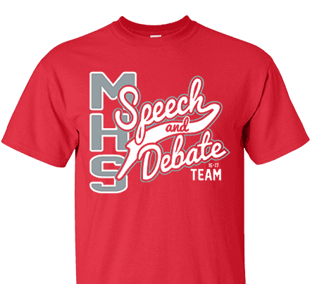 Act 102 16 high school impressions for Speech and debate t shirts